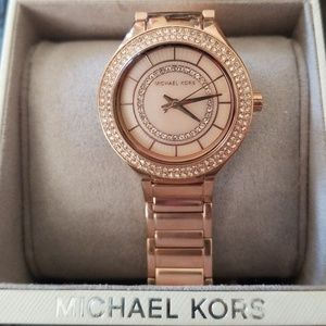 NWT Michael Kors Rose Gold Pavé Embellished Watch